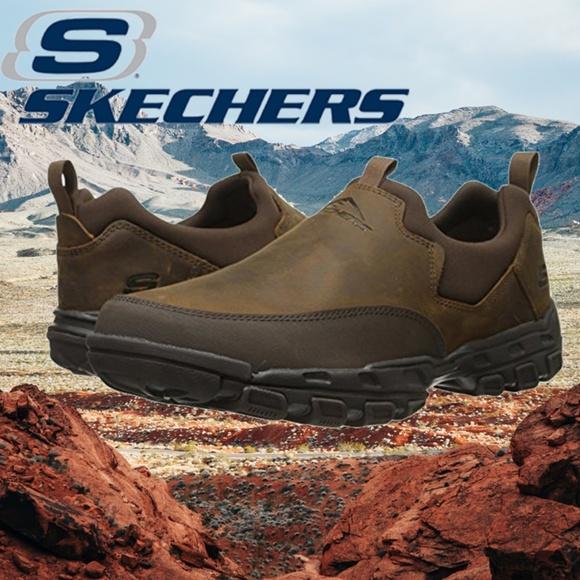 skechers men's memory foam slip on shoes